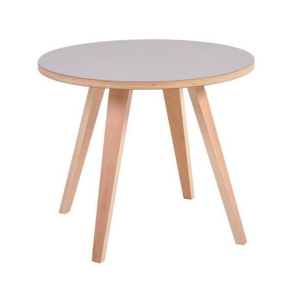Šedý kulatý konferenční stolek Garageeight Arvika
