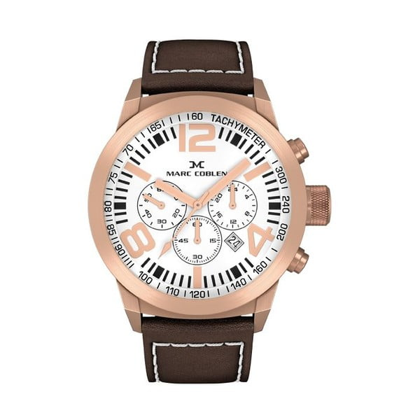 Dámské hodinky Marc Coblen s páskem a kroužkem navíc P55