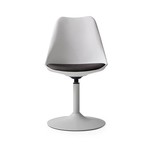 Bílá jídelní židle s černým podsedákem Tenzo Viva