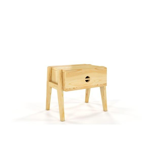 Nočný stolík z borovicového dreva so zásuvkou Skandica Visby Radom