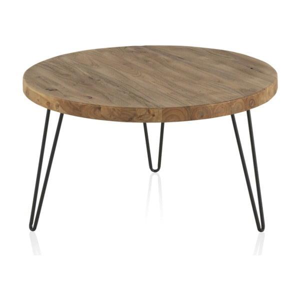Konferenční stolek s deskou z jilmového dřeva Geese Camile, ⌀71cm