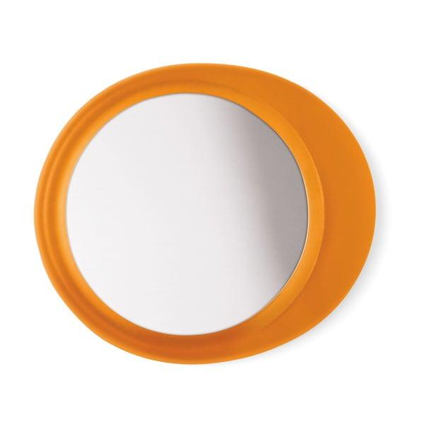 Samodržící přibližovací kosmetické zrcadlo Eclisse, oranžové