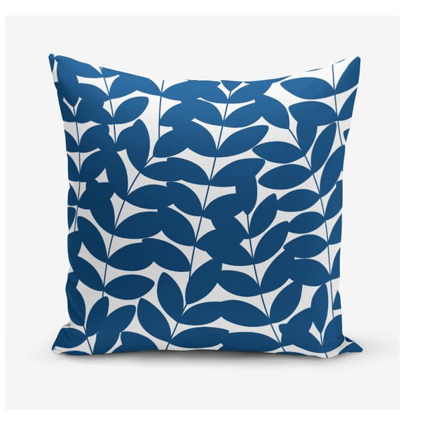 Povlak na polštář s příměsí bavlny Minimalist Cushion Covers Leafy, 45 x 45 cm