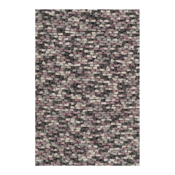 Vlněný koberec Crush Rose, 170x240 cm