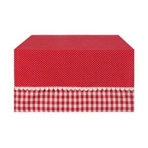 Běhoun Basic Hearts  50x140 cm, červený