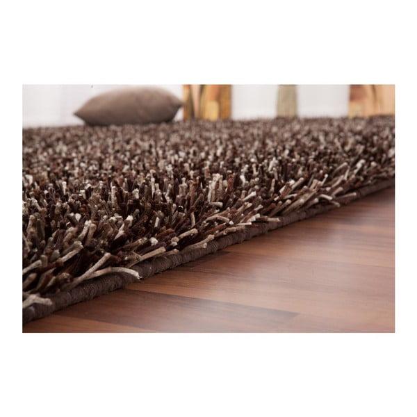 Koberec Rhytm 80x150 cm, tmavě hnědý