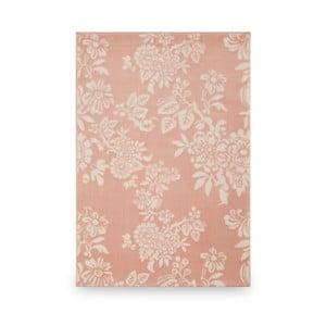 Růžový koberec Flowers, 133 x 190 cm