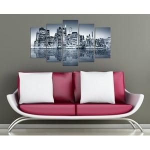 5dílný obraz Černobílé město
