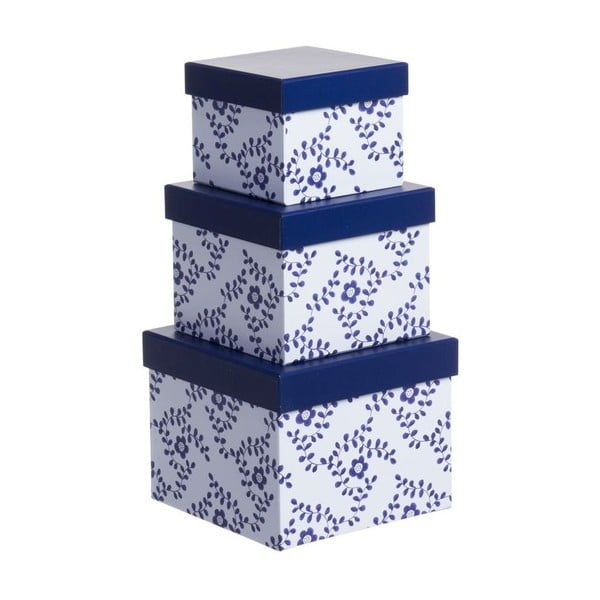Set 3 krabic Flor Azul