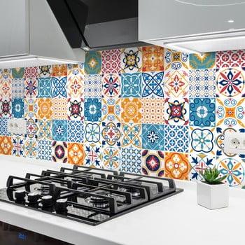 Set 30 autocolante Ambiance Cement Tiles Liliana, 10 x 10 cm de la Ambiance