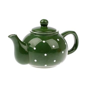 Ceainic din ceramică Dakls Dots, 1 l, verde de la Dakls