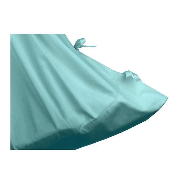 Velká mentolově zelená kolébka z bavlny se zavěšením do dveří Hojdavak Baby (0až9 měsíců)