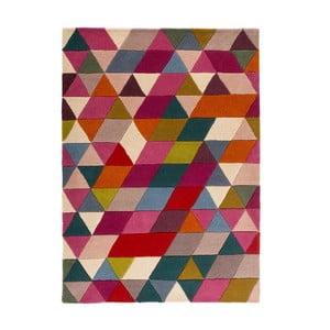 Růžový vlněný koberec Flair Rugs Prism, 80x150cm