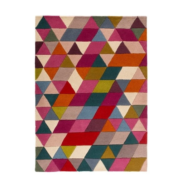 Vlněný koberec Flair Rugs Illusion Prism Pink Triangles, 160 x 220 cm