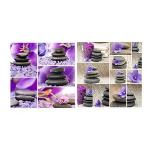 Set obrazů na skle Zen II, 30x30 cm, 2 ks