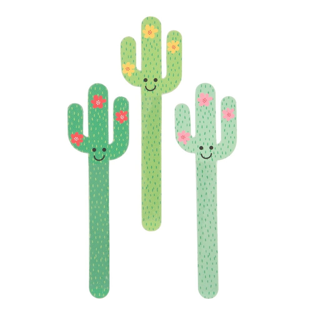 Sada 3 pilníčků na nehty Sass & Belle Cactus