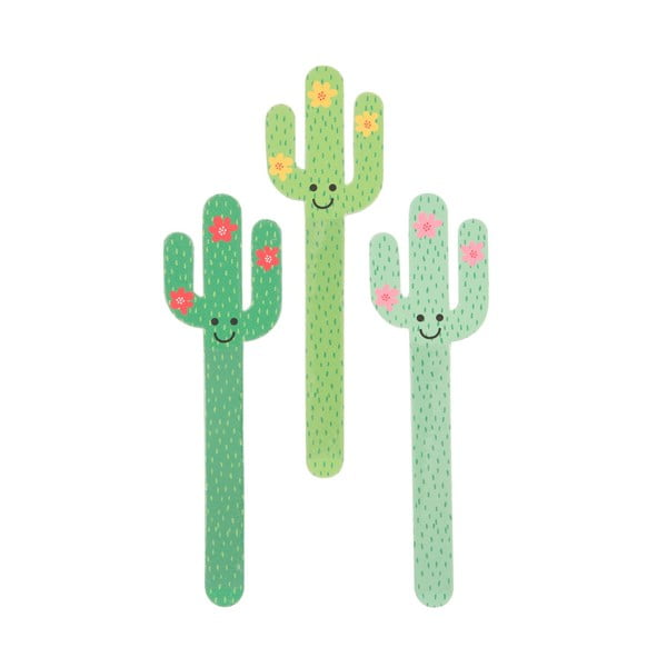 Set 3 pile pentru unghii Sass & Belle Cactus