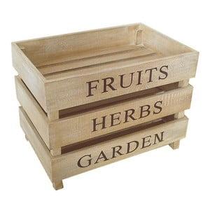 Sada 3 přepravek Fruits, Herbs, Garden