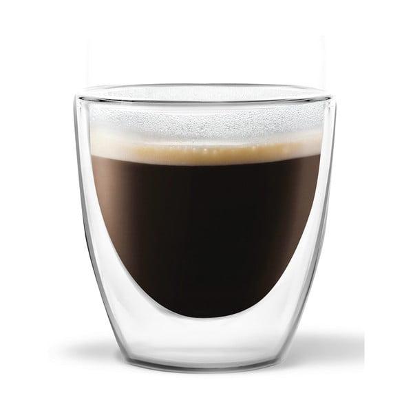 Sada 2 dvoustěnných sklenic Vialli Design Ronny Espresso, 80ml
