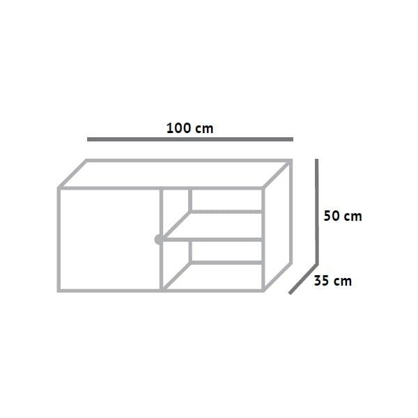 Skříňka s policemi Fam Fara, délka 100 cm
