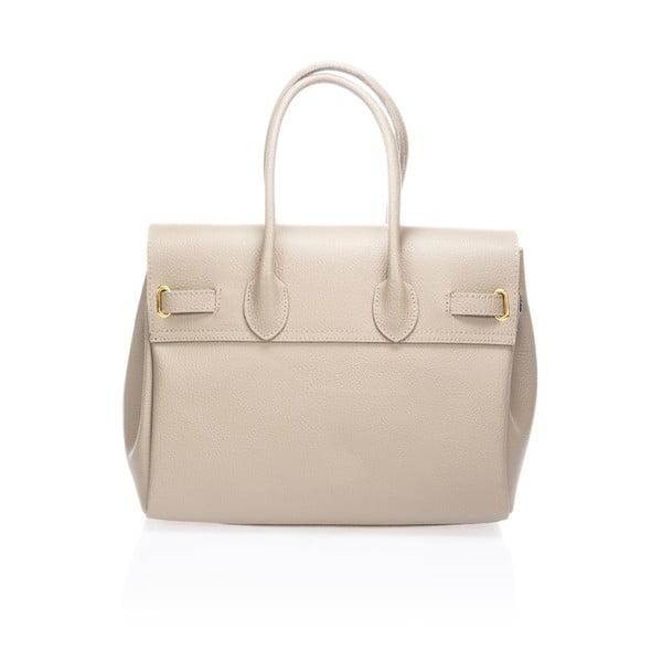Šedobéžová kožená kabelka Giulia Massari Birdie