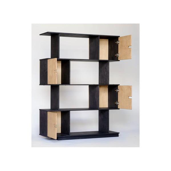 Černá policová skříň Radis Pix 4