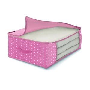 Růžový úložný box na peřiny Cosatto Pinky, 45 x 45 cm