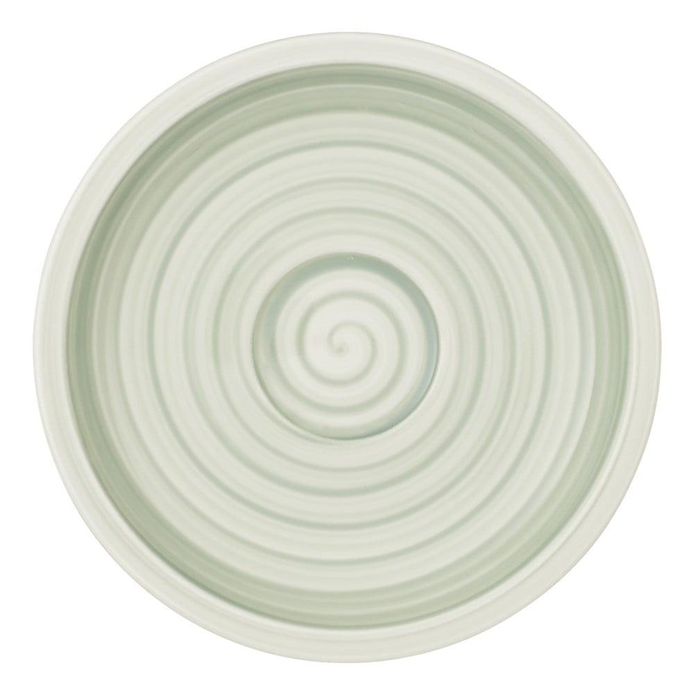 Zeleno-bílý porcelánový podšálek Villeroy & Boch Artesano Nature, 12 cm