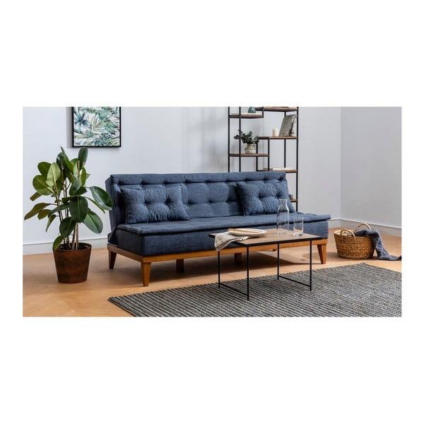 Canapea extensibilă Aristea, albastru închis