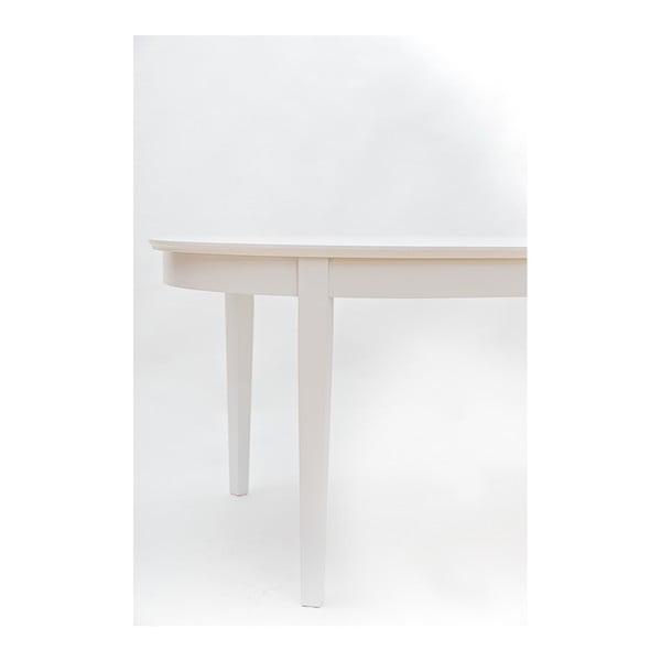 Bílý rozkládací jídelní stůl Wermo Family, 165-215x105cm