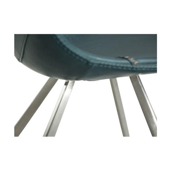 Modrá jídelní židle s ocelovým podnožím DAN–FORM Pitch