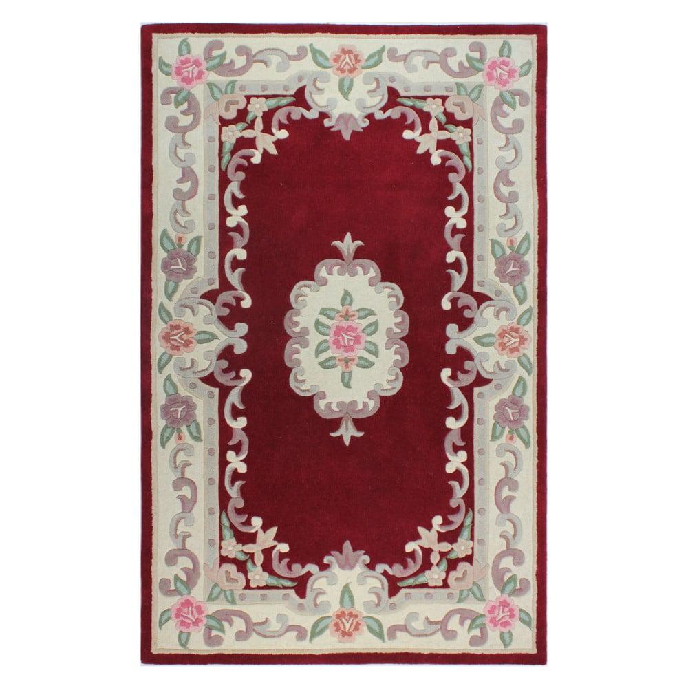 Červený vlněný koberec Flair Rugs Aubusson, 75x150cm