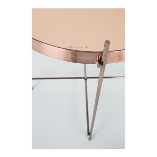 Măsuță metalică Zuiver Cupid, arămiu