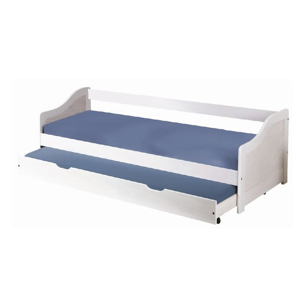 Bílá dřevěná jednolůžková postel Evergreen House Leon White, 90x190cm