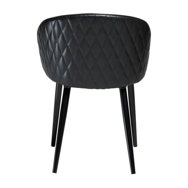 Černá koženková židle DAN-FORM Denmark Dual