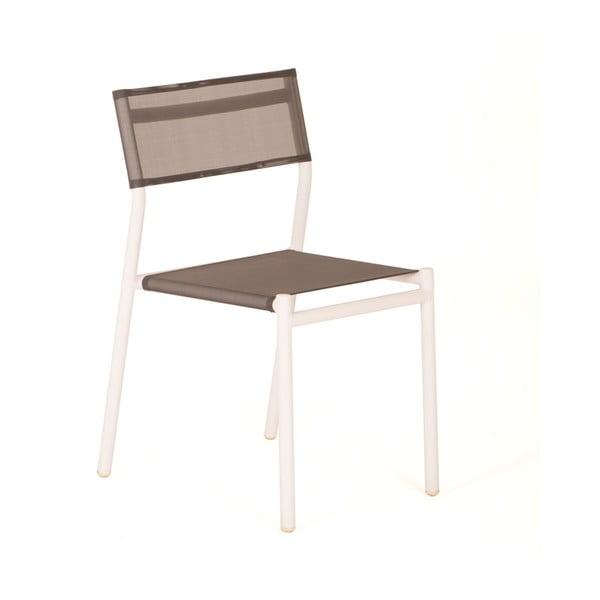 Set 4 scaune de grădină stivuibile Ezeis Moon, gri