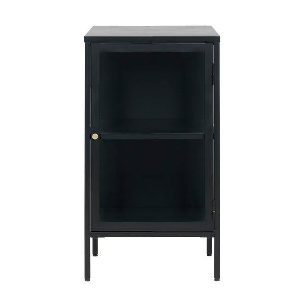 Czarna komoda z przeszklonymi drzwiczkami Unique Furniture Carmel, dł. 45,3 cm