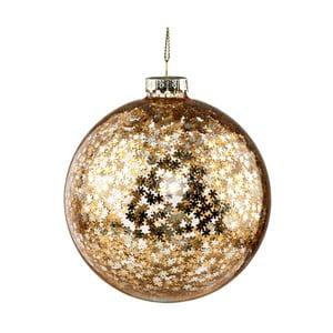 Vánoční závěsná ozdoba ze skla ve zlaté barvě Butlers Sparkle, ⌀ 10 cm