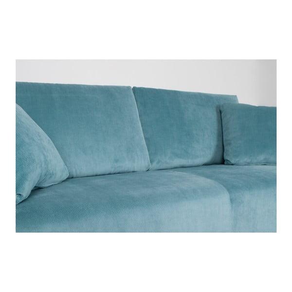 Modrá třímístná pohovka Zuiver Dragon