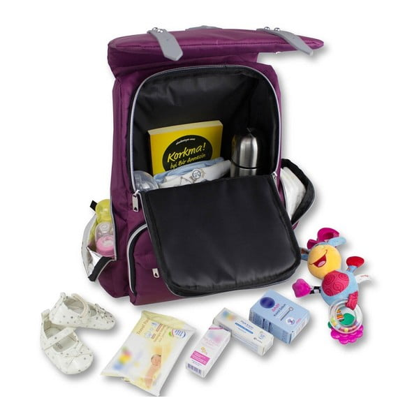 Rucsac maternitate cu port USB My Valice MOTHER STAR Baby Care, mov