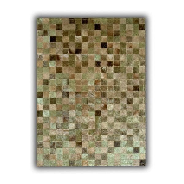 Koberec z pravé kůže Green Multi, 150x210 cm