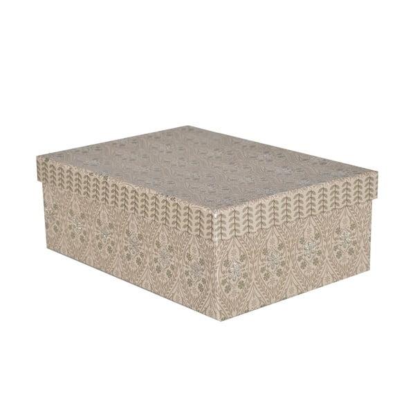 Krabice Pudelka 34x26 cm, šedá