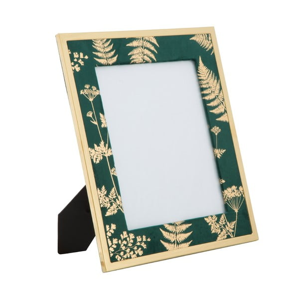 Zeleno-zlatý stolový fotorámik Mauro Ferretti Glam, 20 × 25 cm