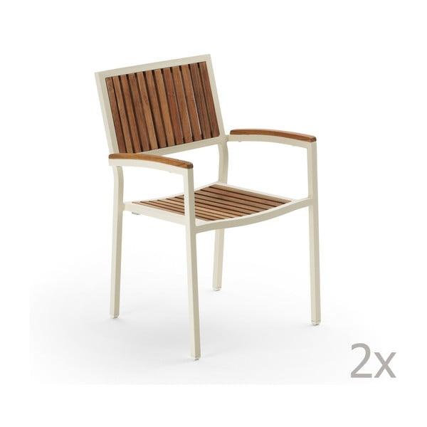 Sada 2 zahradních židlí Pranzo