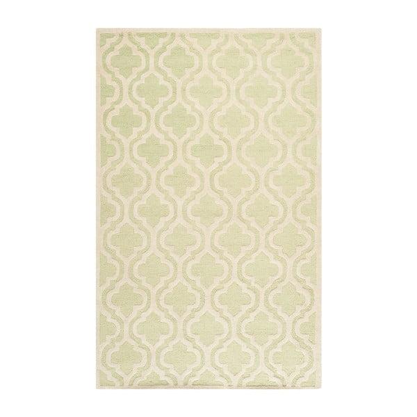 Zeleno-bílý vlněný koberec Safavieh Lola, 243 x 152 cm