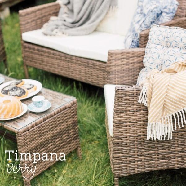 Set mobilier grădină din ratan artificial Timpana Berry