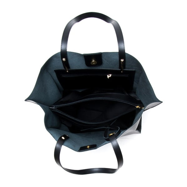 Černá kožená kabelka Mangotti Kalina
