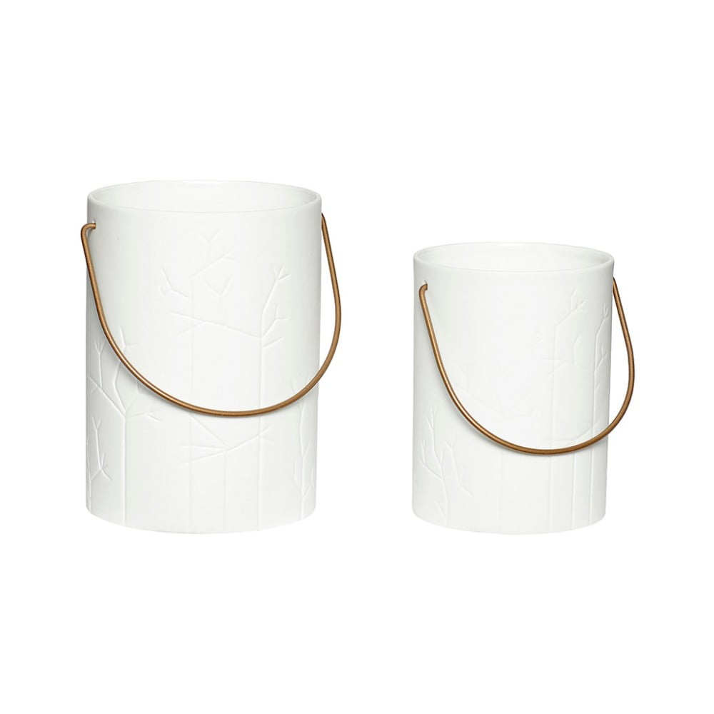Sada 2 porcelánových luceren Hübsch Deb