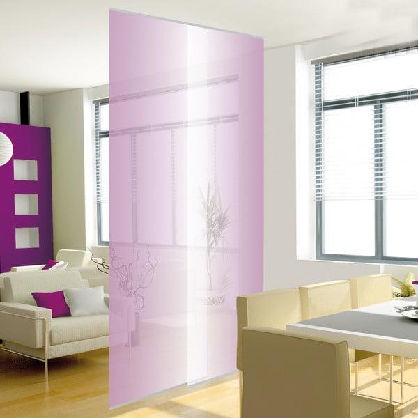 Sada 2 závěsných panelů, transparentní fialová