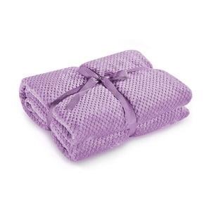 Šeříkově fialová deka z mikrovlákna DecoKing Henry, 220x240cm